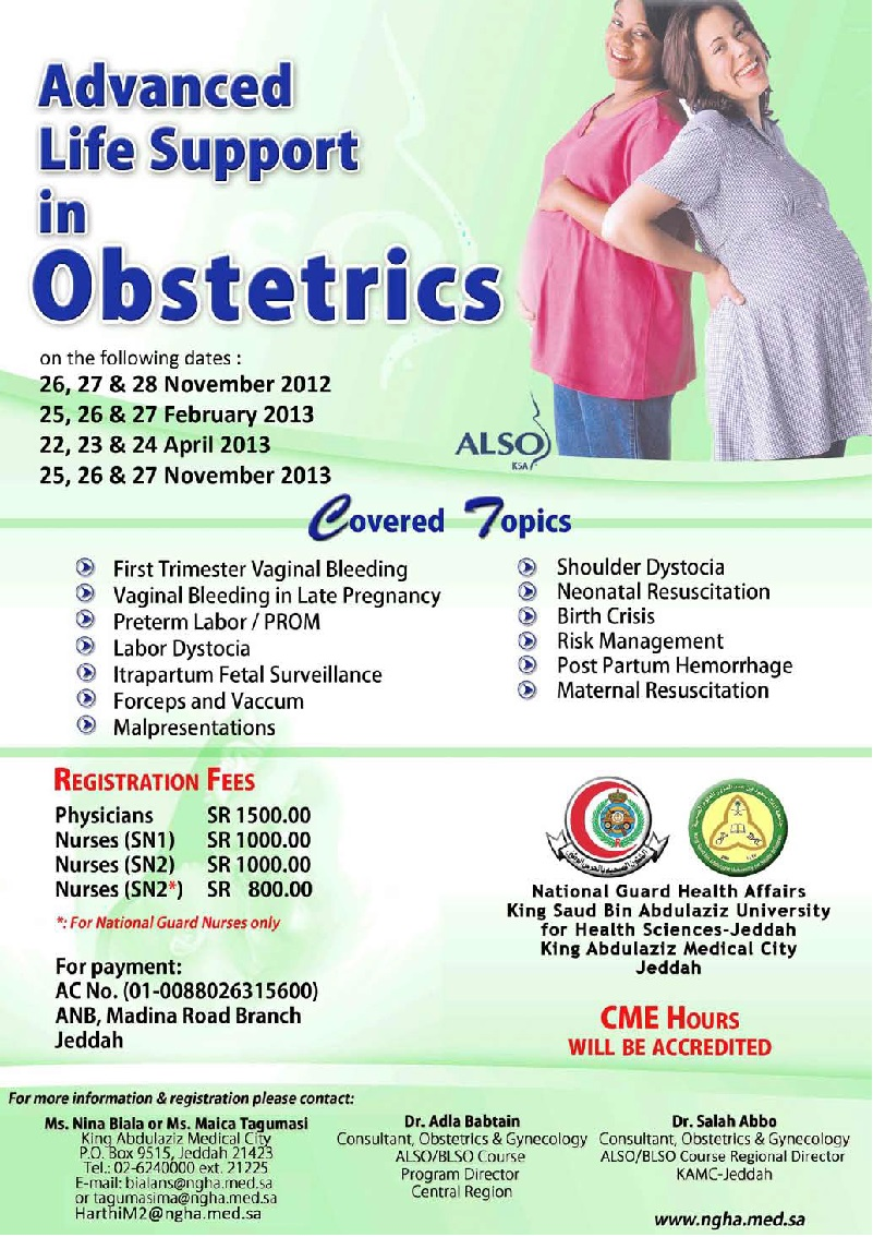 Advance Life Support in Obstetrics- ALSO