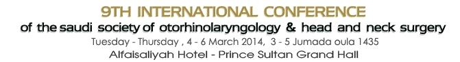 9th International Saudi Otorhinolaryngology Society- H & N Surgery Conference