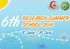 6th Research Summer School 2014
