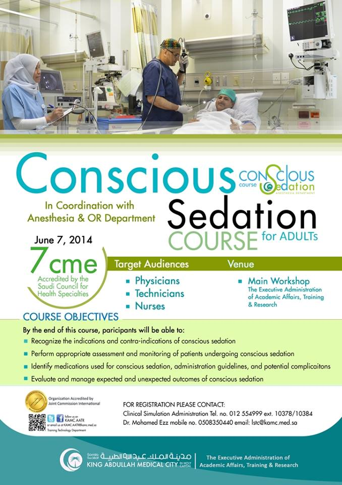 Conscious Sedation Course For Adult