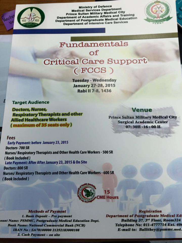 Fundamental Critical Care Support Course Fccs