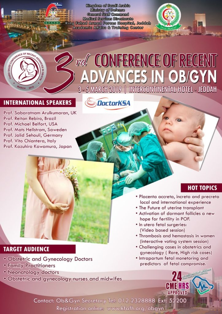 3rd Conference of Recent Advances in OB/GYN – مجلة نبض